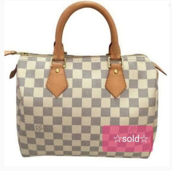 Louis Vuitton Handbags - Louis Vuitton Azur Damier - Speedy 25